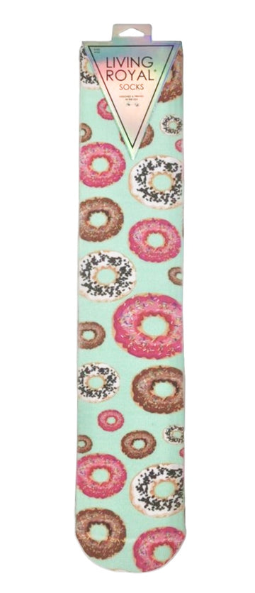 Living Royal Knee High Socks in Donuts - One Size