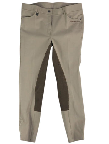 front view of Romfh International Full Seat Breeches in Sesame