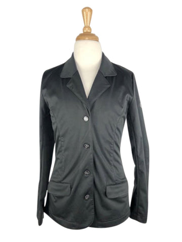 front view of Horze Crescendo Haven Show Jacket in Black