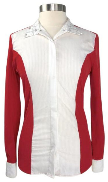 RJ Classics Linden Show Shirt in Red/White - Women's M