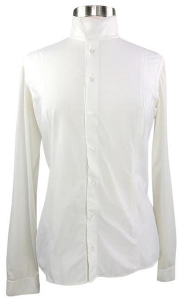 FITS Silk Touch Show Shirt in Ivory - Women's L