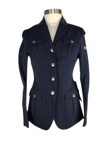 front view of Amity Leah Show Jacket in Navy