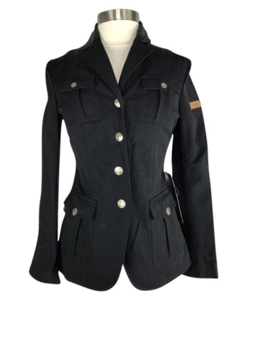 front view of Amity Leah Show Jacket in Black