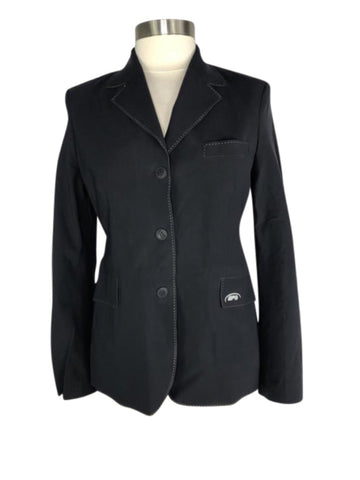 front view of NWT GPA Elite Lady II Competition Jacket in Black
