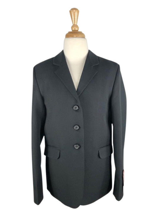 front view of Equistar Children's Riding Jacket in Black