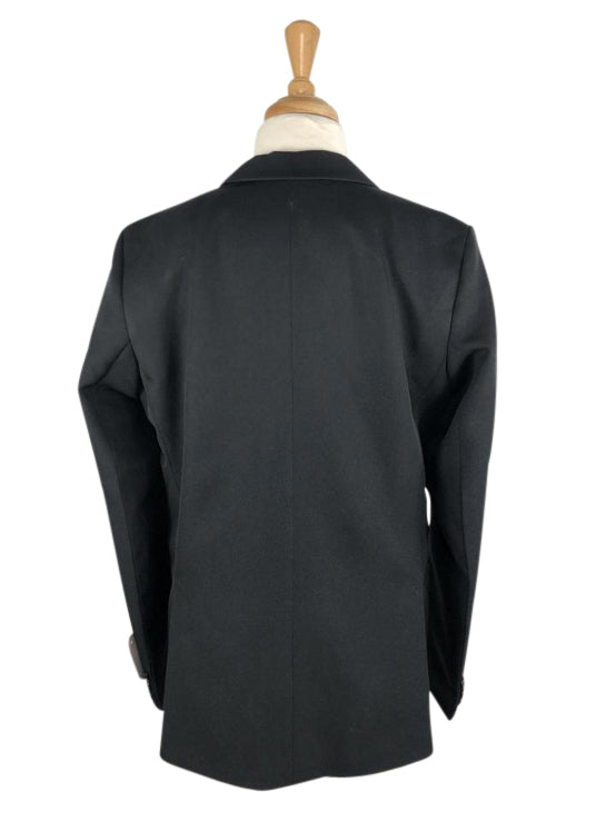 back view of Equistar Children's Riding Jacket in Black