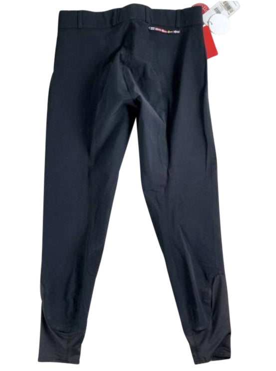back view of Horze Grand Prix Extend Knee Patch Breeches in Black