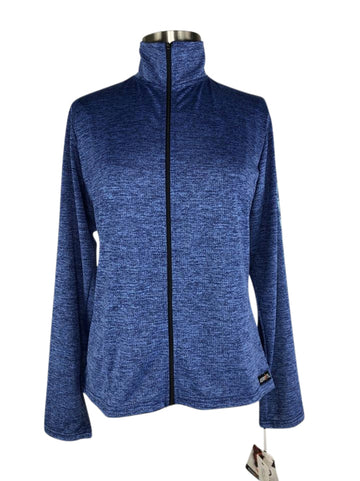 front view of Kerrits Ice Fil Full Zip Jacket in Bluestone
