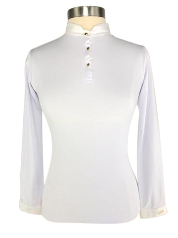 front view of Dada Sport Winningmood Long Sleeve Competition Shirt in White