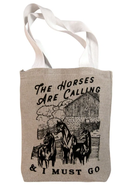 Spiced Equestrian The Horses Are Calling Tote in Natural
