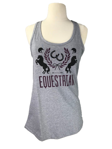 Spiced Equestrian Crest Tank in Sterling - Women's Small