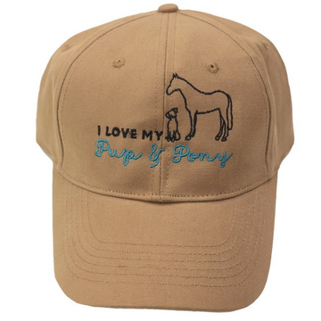 Pup & Pony Co. Ball Cap in Tan - One Size