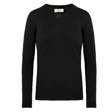 CALLIDAE The V Neck Sweater in Black - Women's XS