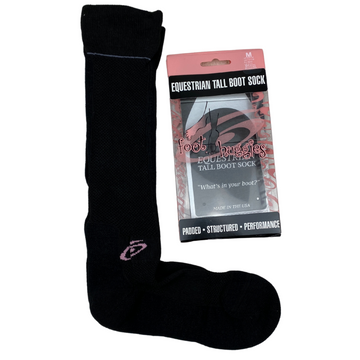 Foot Huggies Thin Boot Socks in Plain Black - Medium