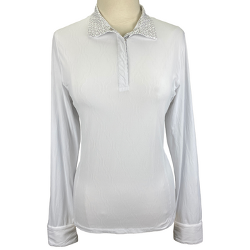 Kerrits Affinity Long Sleeve Show Shirt in White - Women's XL