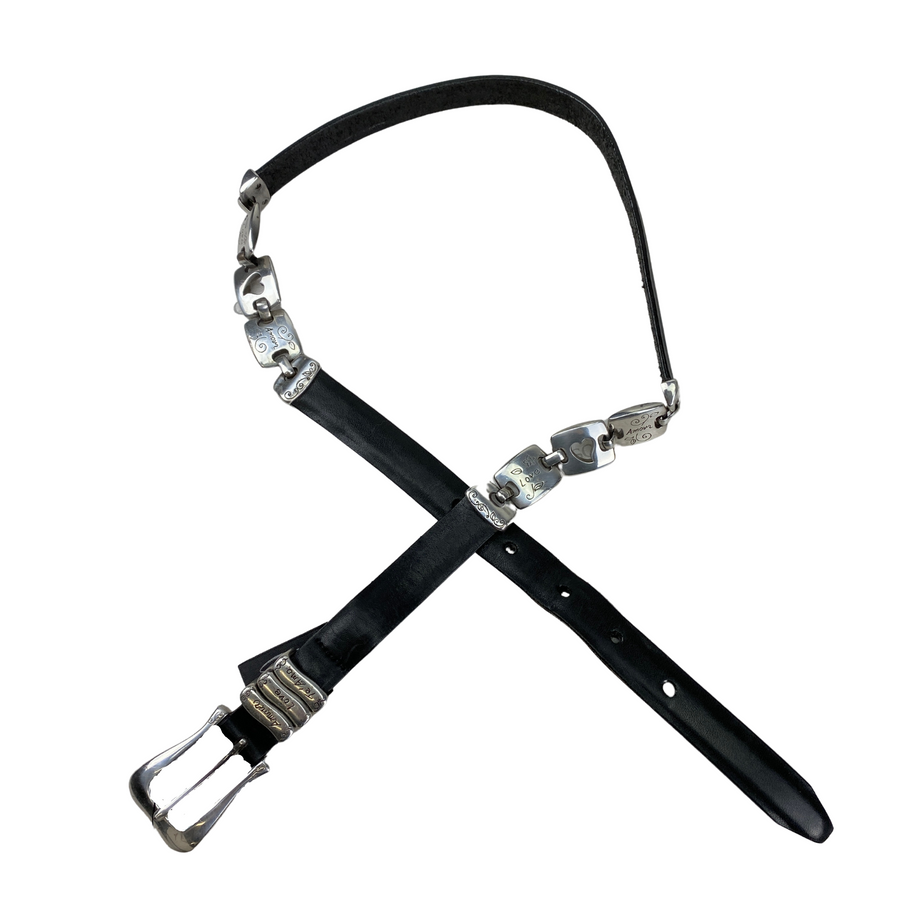 Brighton Love Link Belt in Black/Silver