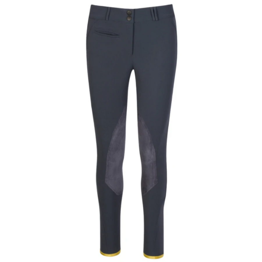 Callidae The C Breeches in Slate Blue w/ Captain Knee Patch