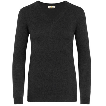 CALLIDAE The V Neck Sweater in Cinder - Women's XL