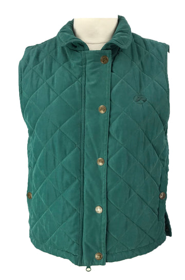 Riding Sport Quilted Vest in Green - Women's S
