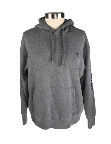 Ariat Logo Hoodie in Grey - Front View