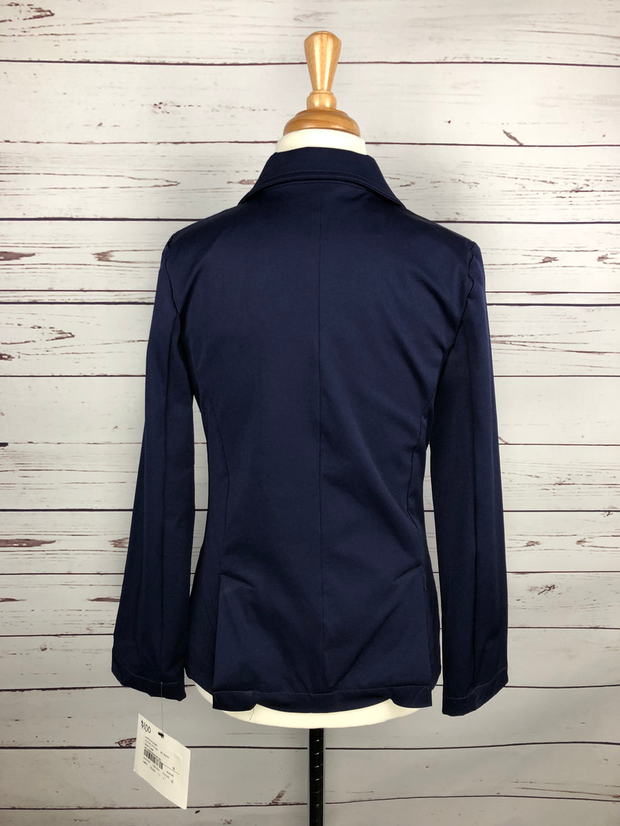 Equine Couture Addison Show Coat in Navy -  Back View