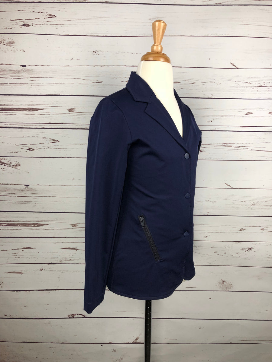 Equine Couture Addison Show Coat in Navy -  Right Side View