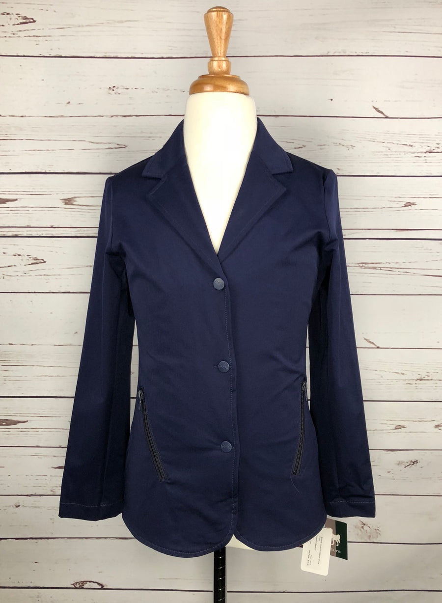 Equine Couture Addison Show Coat in Navy -  Front View