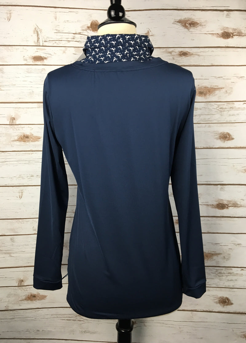 Callidae Practice Shirt in Navy w/ Deer Pattern - Women's XS