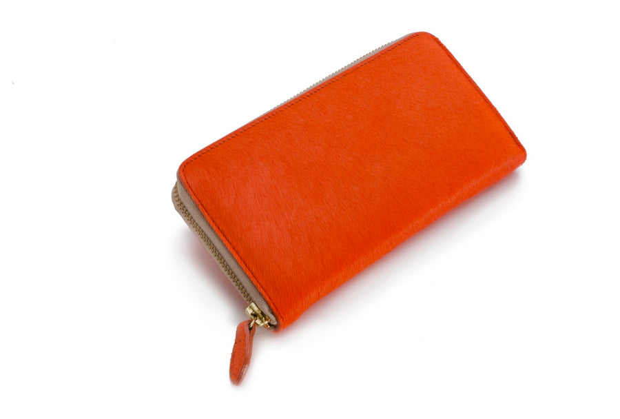 Oughton Limited Carteret Haircalf Wallet in Hermes Orange - Overview 3