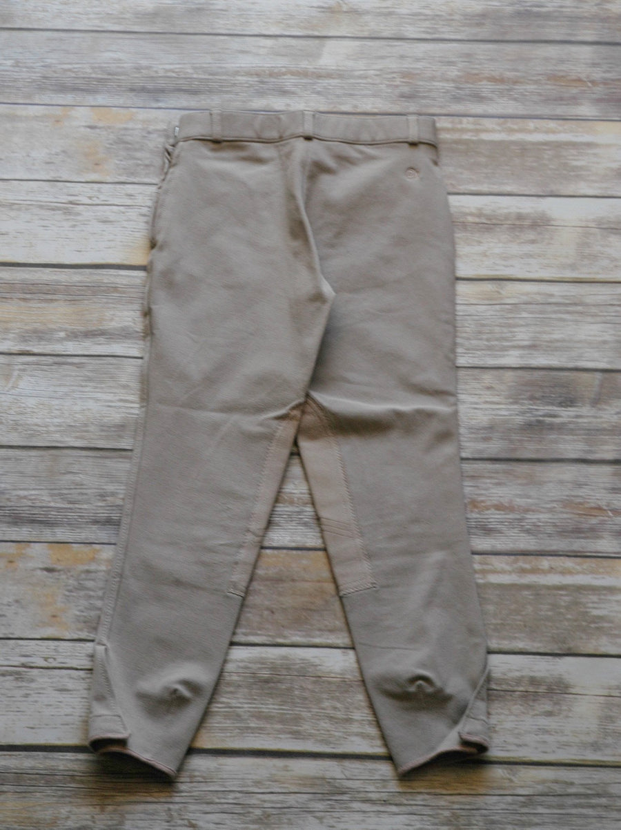 Ovation Side Zip Breeches in Tan -  Back View