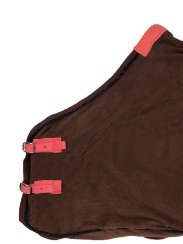 Pony Fleece Cooler in Brown - Front View
