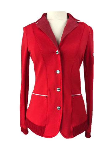 front view of Animo Competition Jacket in Red