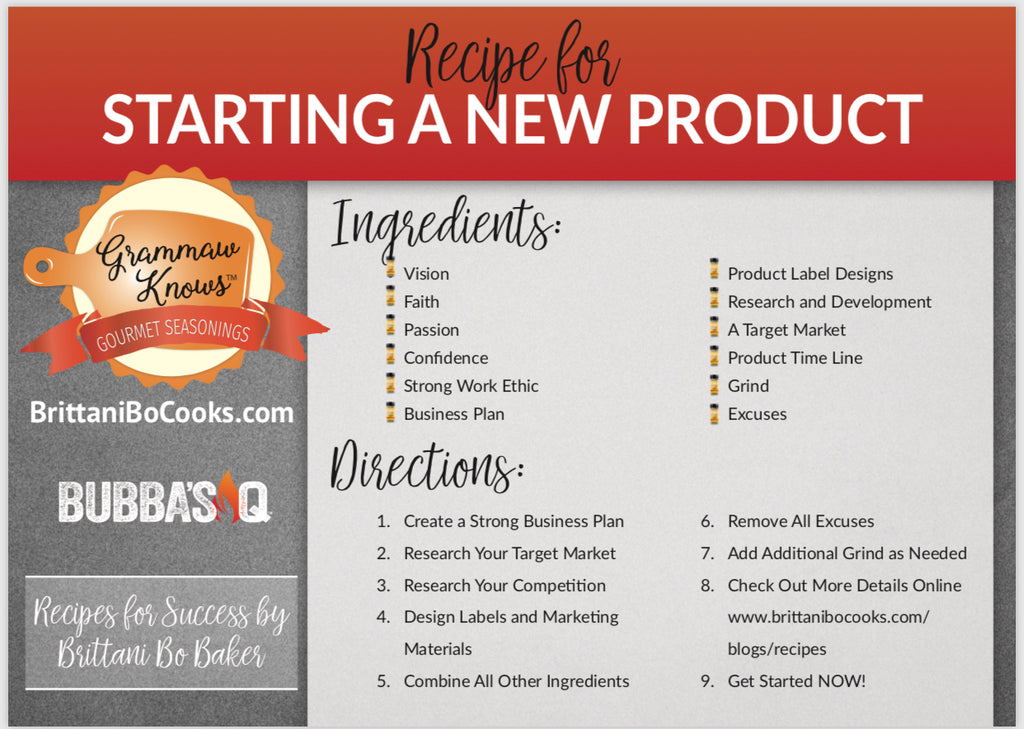 Recipes for Success starting a new product