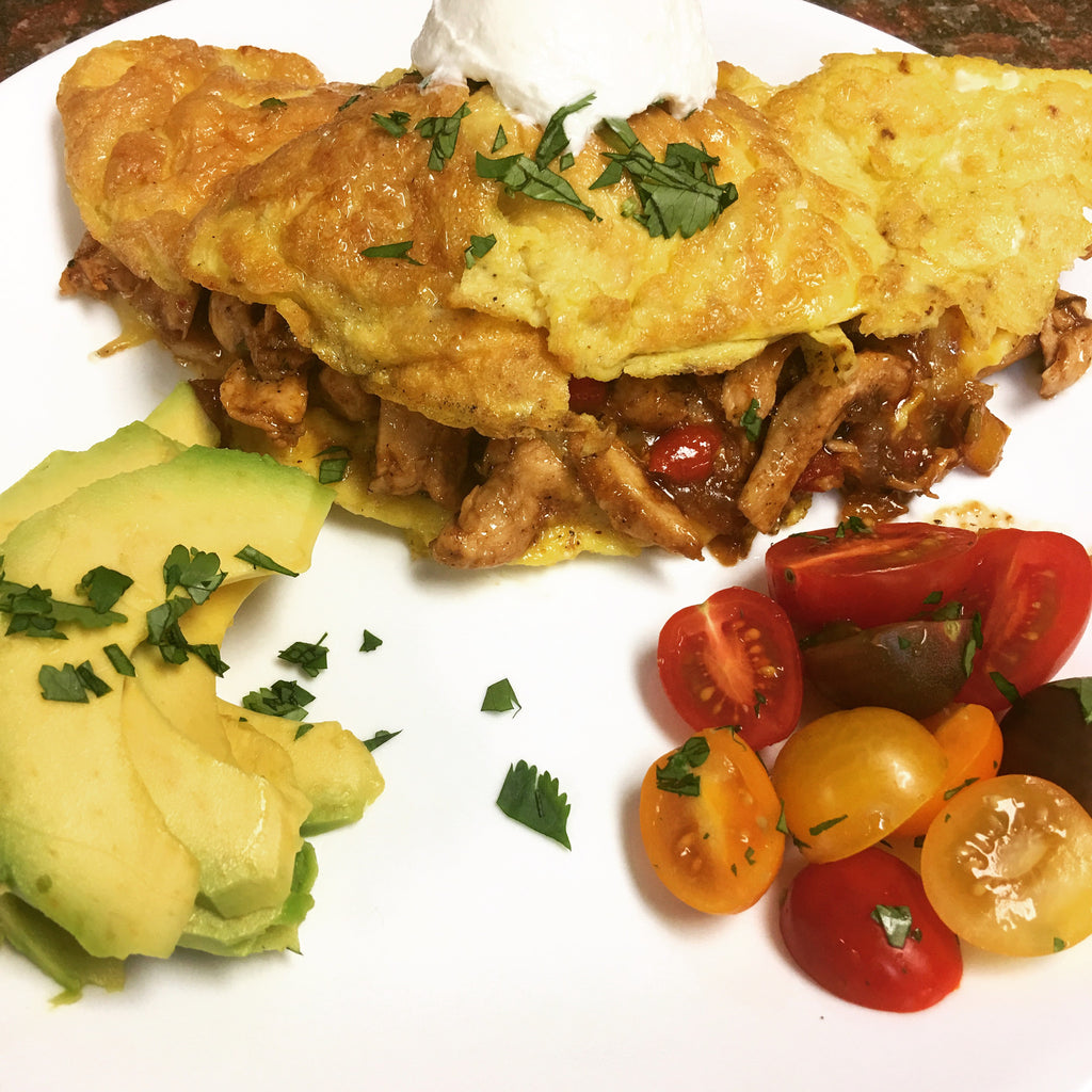Chicken Fajita Omelet
