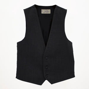 Steel Grey Wool Vest