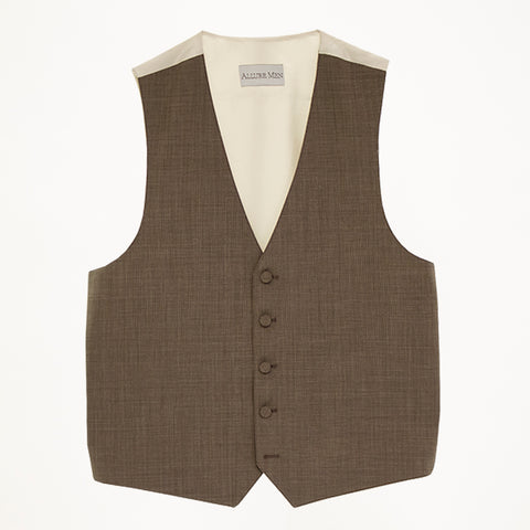 Cafe Brown Wool Vest