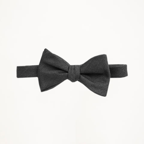 Charcoal Matte Bow Tie