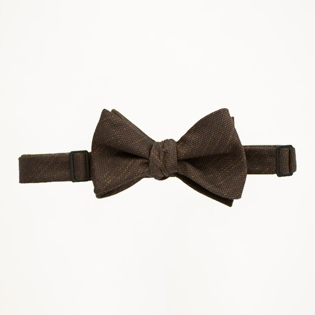 Chocolate Matte Bow Tie