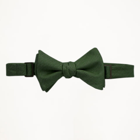 Evergreen Matte Bow Tie