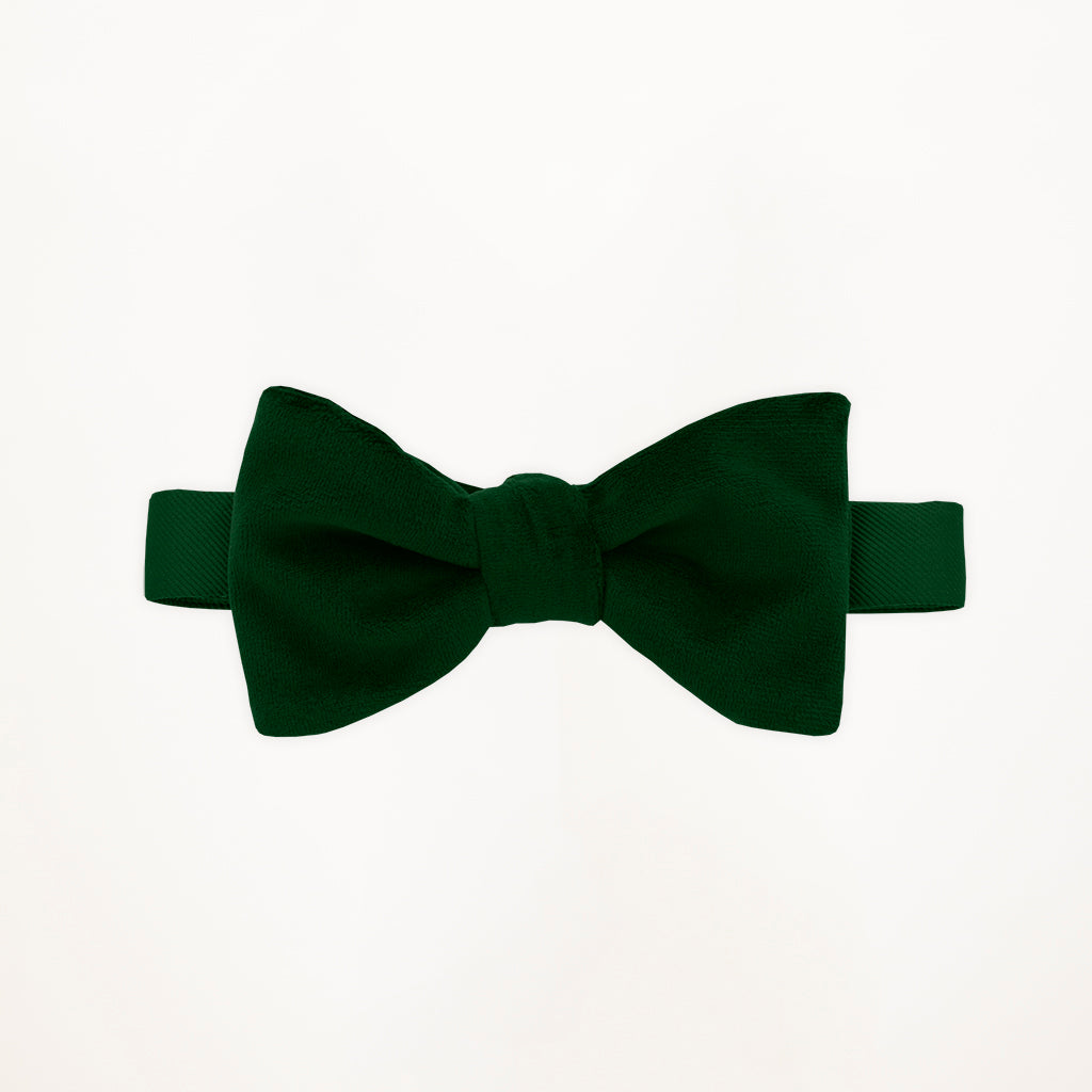 Evergreen Velvet Bow Tie