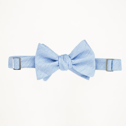 Light Blue Matte Bow Tie
