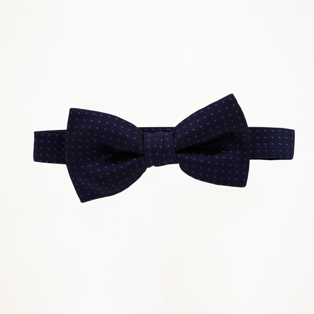 Midnight Blue Sterling Bow Tie