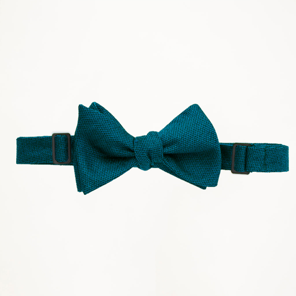 Teal Matte Bow Tie
