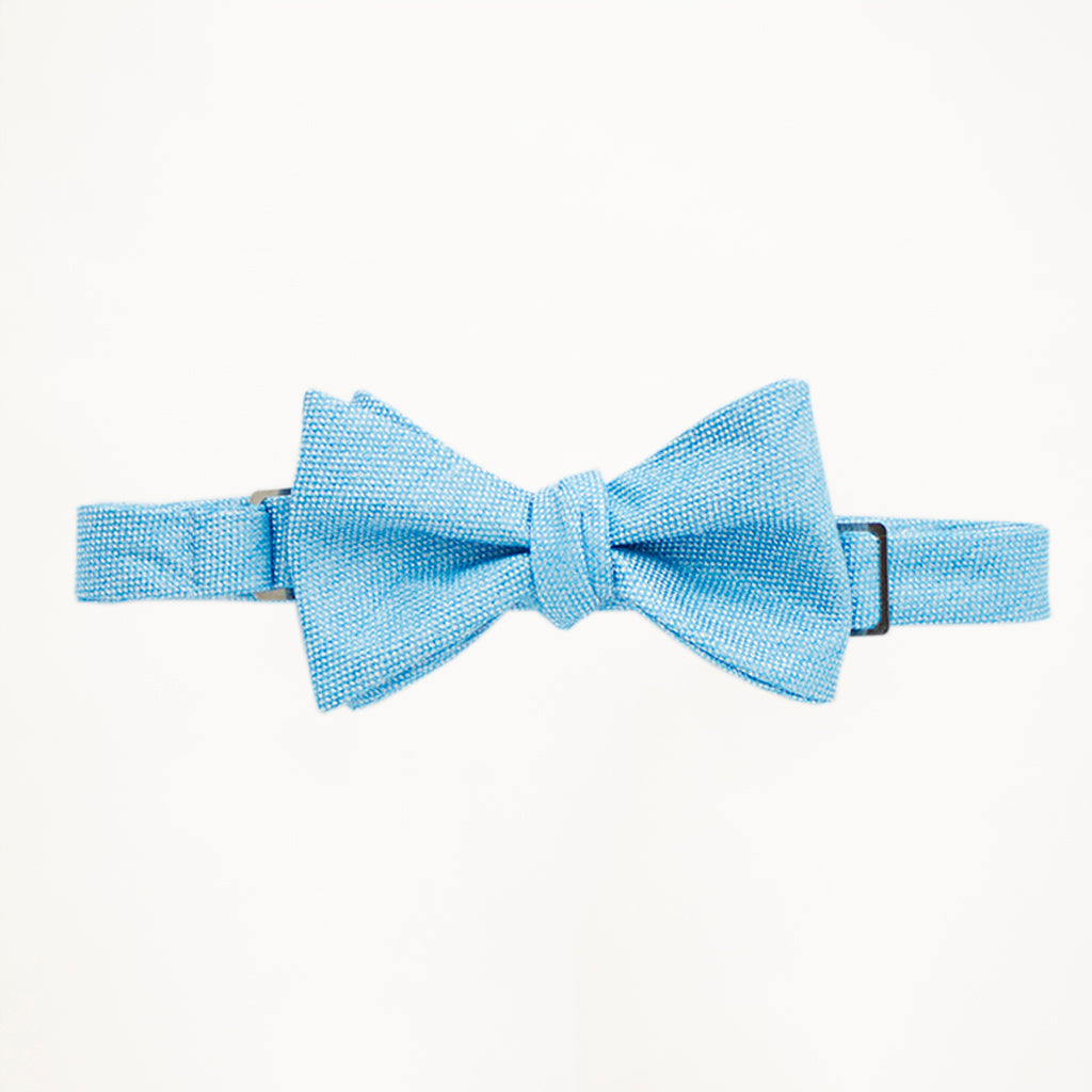 Turquoise Matte Bow Tie