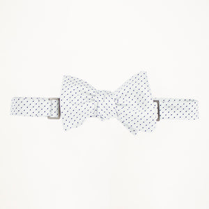 White with Black Dot Bow Tie