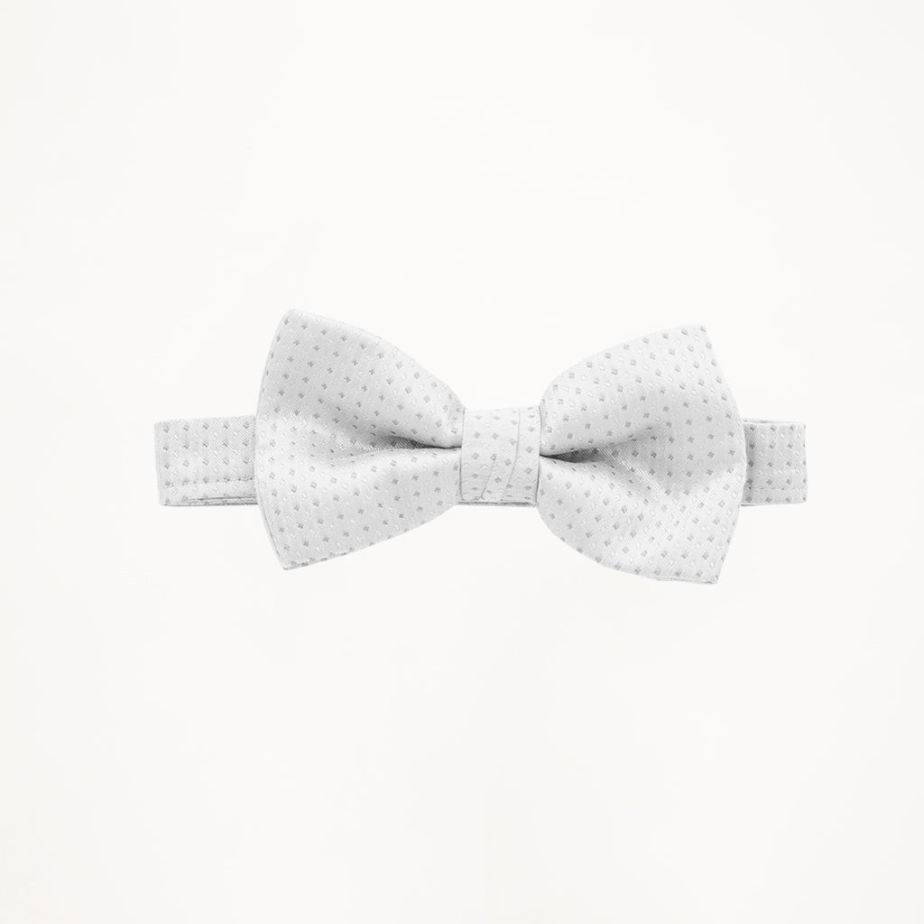 White Sterling Bow Tie