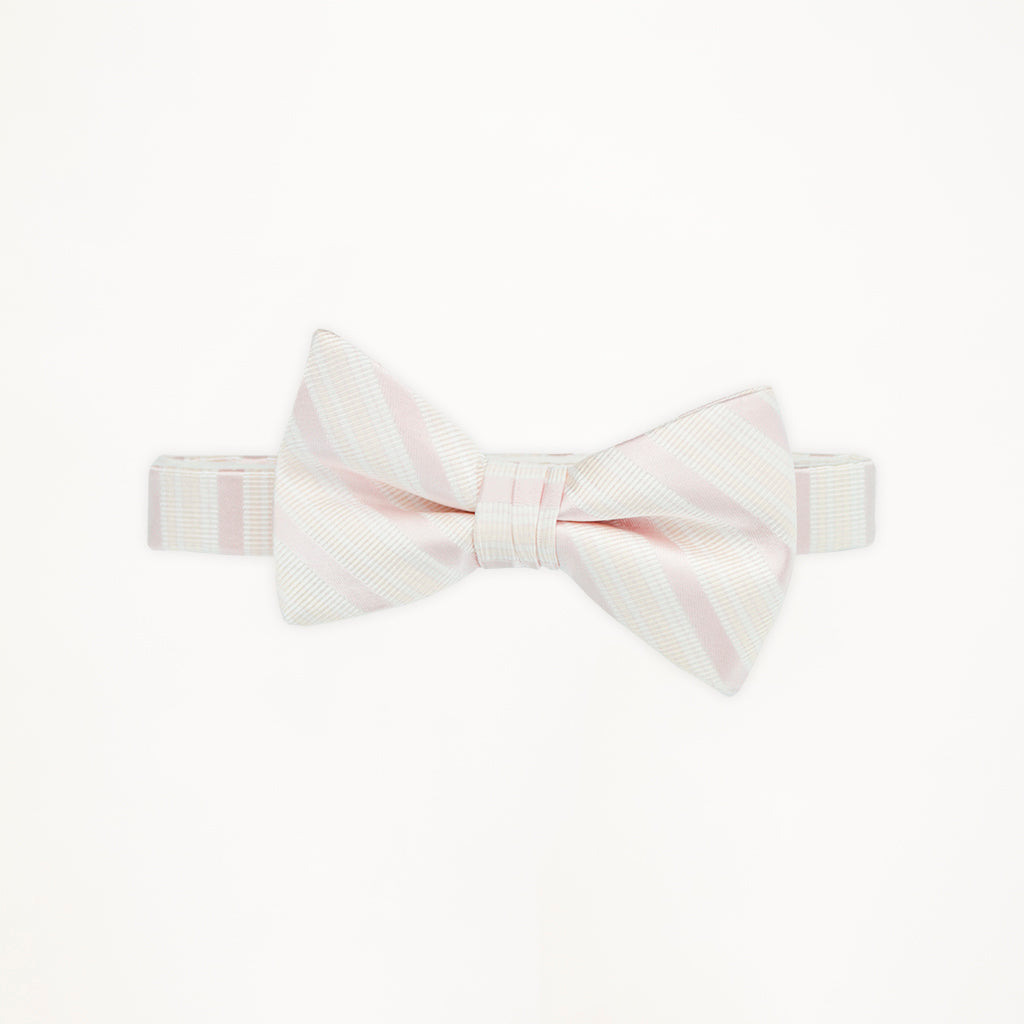 Angel Stripe Bow Tie
