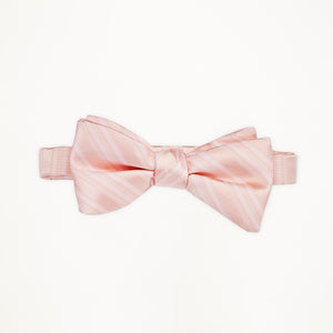 Blush Stripe Bow Tie