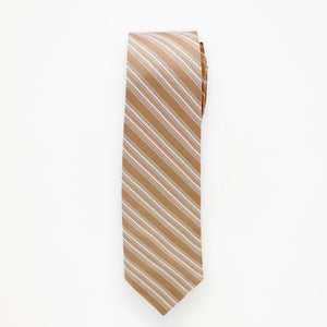 Bronze Stripe Long Tie