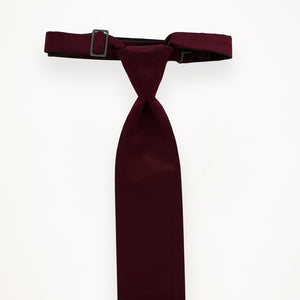 Burgundy Savvi Solid Long Tie